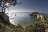 Sand beach in galicia, spain — Zdjęcie stockowe