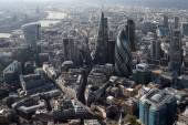 London city skyline view from above — Foto de Stock