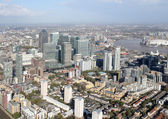 London docklands skyline view from above — Stock Photo