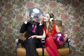 Mr and mrs discoball — Stock Photo