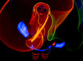 Sexy neon uv glow dancer — Stock Photo