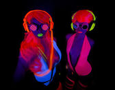 Female disco dancers — Stock Photo