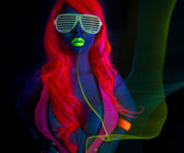 Sexy female disco dancer — Stock Photo