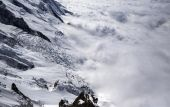Mont blanc abover the clouds — Stock Photo
