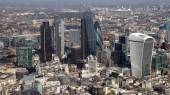 London city skyline view from above — Stock Photo