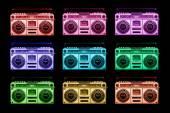 Vintage ghettoblaster stereo — Stock Photo