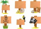 PIRATE SIGN — Stock Photo