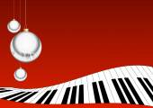 CHRISTMAS MUSIC BACKGROUND — Stockfoto