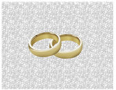 WEDDING RINGS ON LACE — Stock Photo