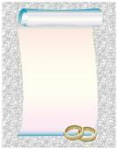 Beautiful Wedding Rings Frame — Stock Photo