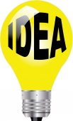 IDEA LIGHT BULB — Stock Photo
