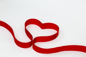 Heart from ribbon - Stock Image — Stock Photo