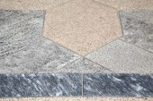Villadosia street   pavement of a curch and marble — Stock Photo