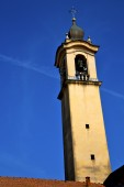 Vinago old abstract   and church tower bell sunny day — Stock Photo