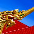 Thailand abstract cross wood drake incision roof red wat   — Stock Photo #54901401
