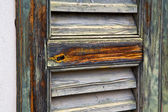 Window  varese palaces  abstract      wood   blind the concrete — Stock Photo
