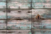 Knocker in a  door curch   wood lombardy   lonate pozzolo — Stock fotografie
