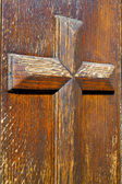 Castellanza blur    abstract     knocker in a    closed wood     — Stock Photo