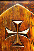 Castellanza blur  closed wood italy   cross — Stock fotografie