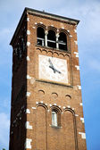 Legnano old abstract in  italy   the    and church tower bell su — Stock Photo