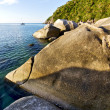 Stone in thailand kho tao bay abstract of a blue lagoon south — Stock Photo #56327425