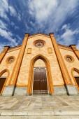 Villa cortese italy   church  varese  the old door — Stock Photo