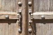 Jerago abstract   in a  door curch  closed wood italy  lombardy  — Foto Stock
