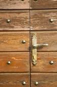 Cheglio   door curch  closed wood italy  lombardy  — Foto Stock