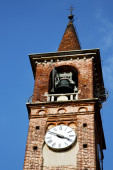 Carbonate old abstract in  italy    tower bell sunny day  — Stock Photo