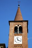 Busto  church tower  sunny day  — Stok fotoğraf