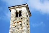 In varano borghi  old abstract  tower bell sunny day  — Stock Photo