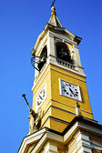 In cislago old   and church tower bell sunny day  — Stock Photo