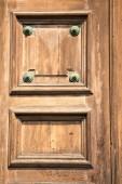 in lonate pozzolo rusty brass brown knocker   — Stock Photo