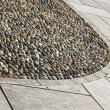 Near mozzate lombardy pavement of a curch and wall marble — Stock Photo #60151147