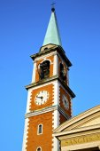 Olgiate olona   church tower bell sunny day  — Stock Photo