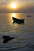 Asia in the  kho phangan bay isle sunset — Stock Photo