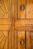 Wood door venegono  varese — Stock Photo