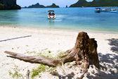 アジアの湾島パンガン島桟橋 — ストック写真