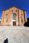 lombardy    in  the castiglione olona    old   church  closed b — Stock Photo