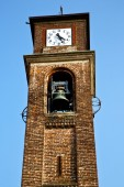 In mozzate   old abstract   tower bell sunny day milan — Stock Photo
