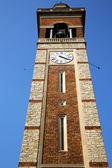 In gorla  old abstract    italy   the   wall    tower bell sunny — Stock Photo