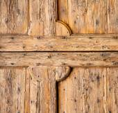 abstract   rusty brass brown  closed wood lombardy italy    — Stock Photo