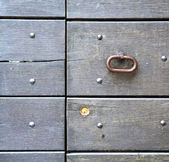 Abstract   rusty  in   door curch  closed wood lombardy italy  v — Stock Photo