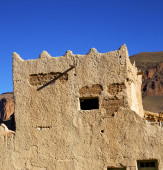 Hill africa in morocco the old contruction         and   histori — Stock Photo