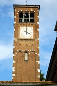 Legnano old abstract in  italy     church  bell sunny day  — Stock Photo