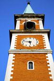 Olgiate olona old  church tower bell sunny day  — Stok fotoğraf