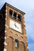 Legnano old   church tower bell sunny day  — Stock fotografie