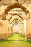 Old moroccan granary in the  d archway  wall — Stock Photo