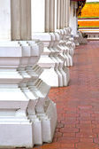 Column  temple   in   bangkok  thailand incision of the temple  — Stock Photo