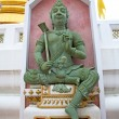 Siddharta   in the temple bangkok asia   thailand flag green — Stock Photo #67433915